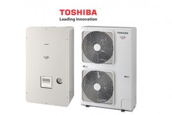 Toshiba Estia HWS-1605H8-E + HWS-1405XWHM3-E levegő - víz hőszivattyú 3 fázisú