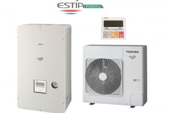 Toshiba Estia HWS-P1105H(8)R-E + HWS-P1105XWHM9-E HIGH POWER levegő - víz hőszivattyú 3 fázisú