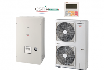 Toshiba Estia HWS-P1405H8R-E + HWS-P1105XWHM3-E HIGH Power 3 fázisú levegő - víz hőszivattyú